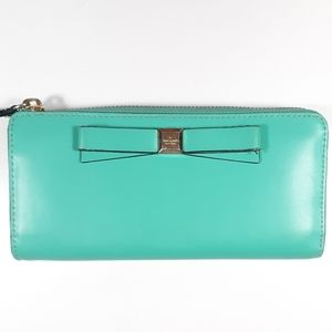 ♠️Kate Spade Wallet Aquamarine Zippered Pocketboo